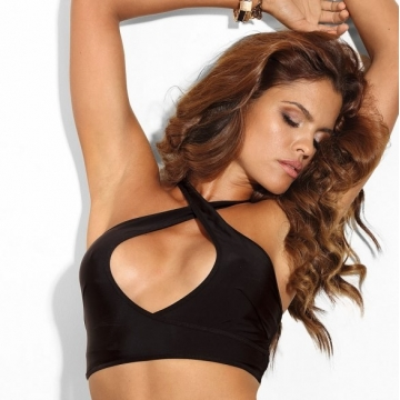 Wireless Bras Fly High - Black Deep Cleavage Bralette