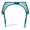 Basilic - Green Mesh Garter Belt