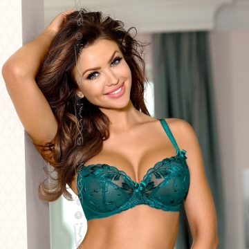 Unlined Bras Basilic - Sea Green Mesh Bra Plus Sizes
