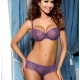 Figue - Purple Mesh Balconette Bra