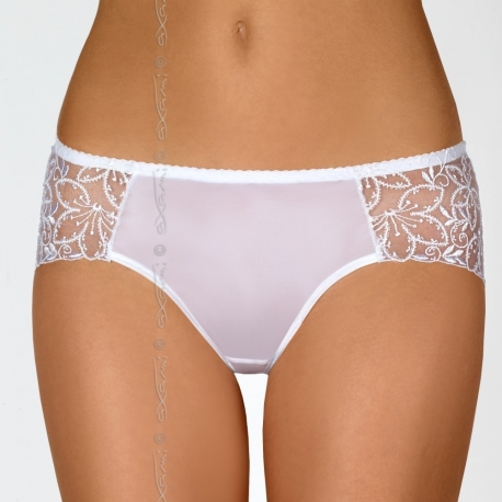 Vin Blanc - White Mesh Bikini Panties