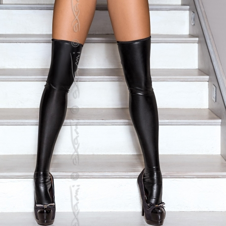 Piment - Black Stay-up Stockings