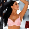 Aurore - Pink Lace Push Up Bra: 32B