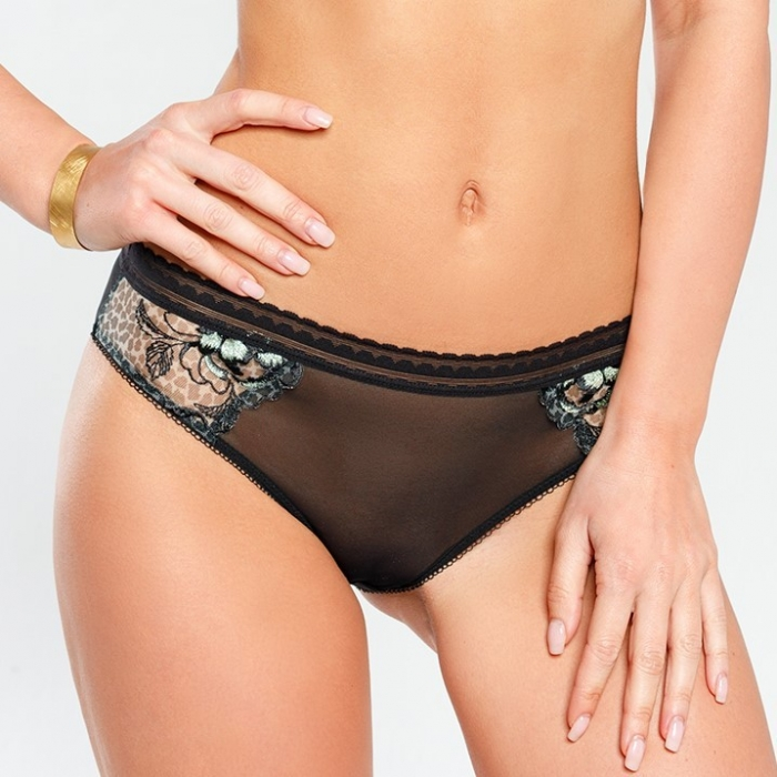 Java - Black Mesh Panties