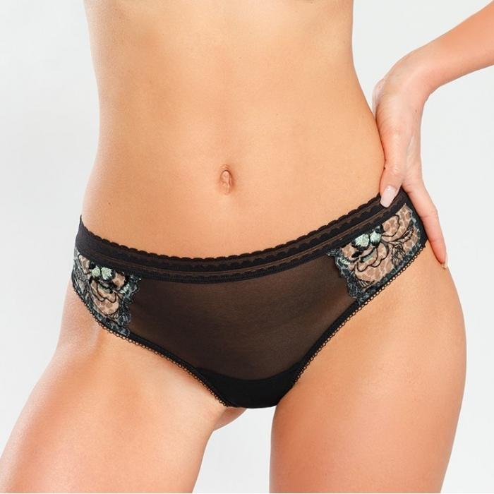 Java - Black Mesh Thongs