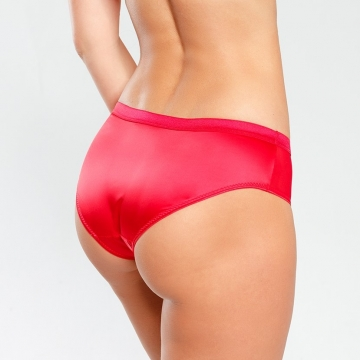 Bikini Panties Madison - Red Satin Bikini Panties
