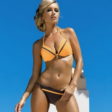 Coletta Color Block European Bikini Set
