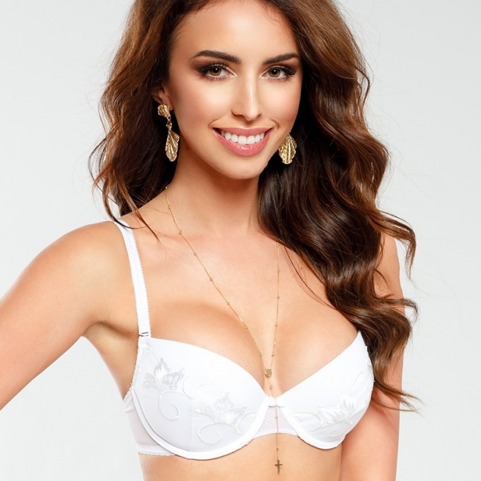Saga - White Push up Bra