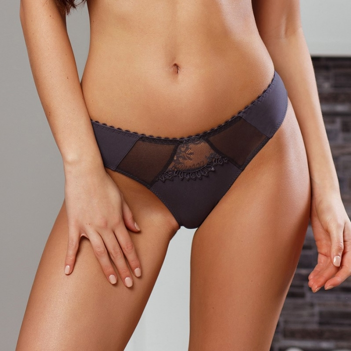 Euphoria - Grey Mesh Panties