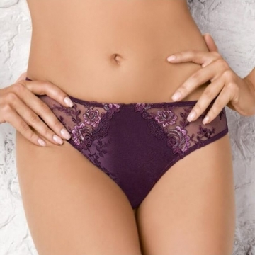 Paris - Burgundy Sheer Bikini Panties