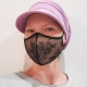 Lace Face Mask with Filter. 3 colors.