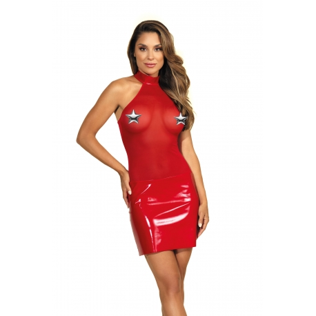 Tulle and Latex Dress Red - Queen of The Night 4