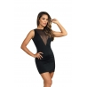 Black Mesh Back Dress - 11