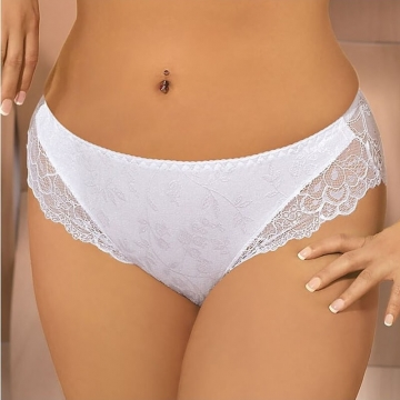 Ellice - White Lace Bikini Panties
