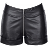 Black Matte Latex Shorts - 8