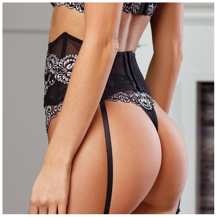 Opera - Black Lace Garter Belt