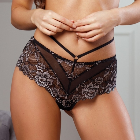 Opera - Black Lace Hipster Panties