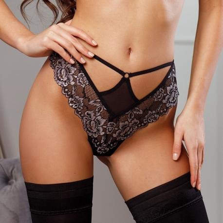 Opera - Black Lace Thongs