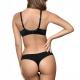 Lidia - Black Seamless Thongs