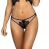 Malaga Loca 6 - Black Sheer Thongs