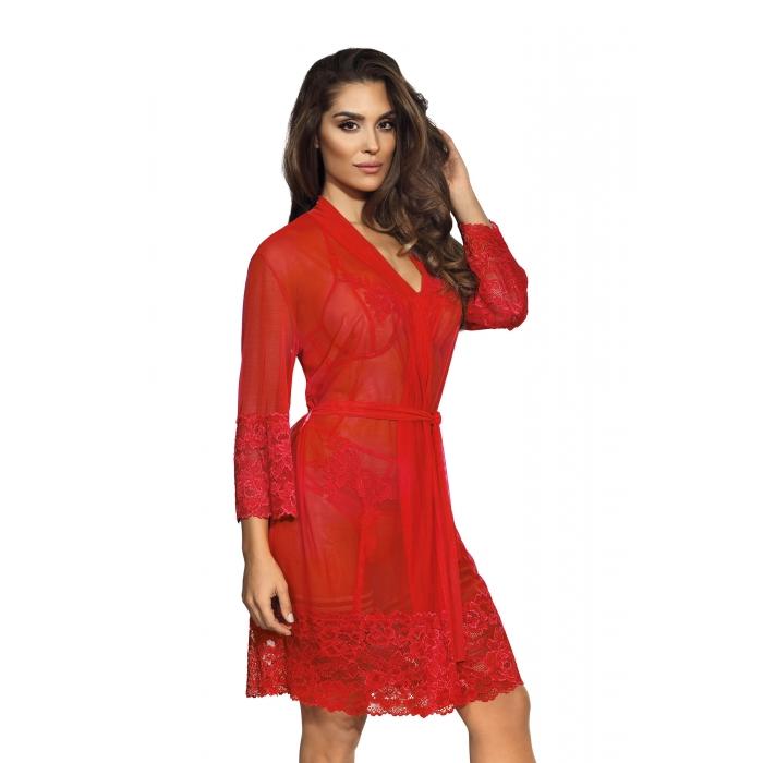 Hot Sevilla Red - Sheer Robe
