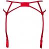 Hot Sevilla Red - Sheer Garter Belt