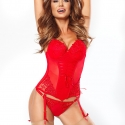 In Love - Red Push up Corset