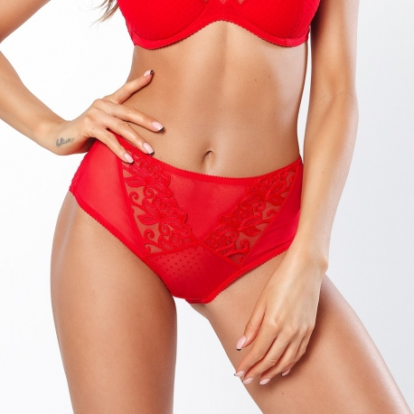 In Love - Red Sheer Maxi Brief