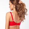 In Love - Red Sheer Half Lined Bra Plus Size