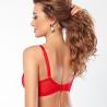 In Love - Red Sheer Balconette Bra