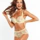 Joy - Yellow Lace Unlined Bra Plus Sizes