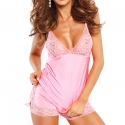 Kiss - Pink Lace Night Top