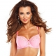 Kiss - Pink Lace Unlined Bra Plus Sizes