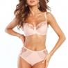 Smile - Peach Lace Unlined Bra Plus Sizes