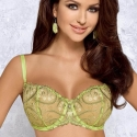 Lime Green Sheer Balconette Bra - Lara