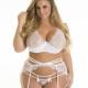 Full Figure White Lace Bra: 40DD