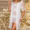 Cloches - White Sheer Lace Robe
