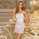 Cloches - White Sheer Lace Chemise