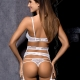 Angelic - White Sheer Lace Thongs
