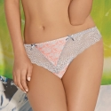 Lace Bikini Panties Light Grey - Brigitte