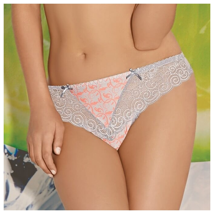 BRIGITTE Light Grey Lace Bikini Panties by AVA