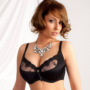 Black Sheer Bra Light Padding - Mallory