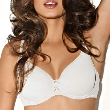 Evon - Demi Cut Seamless White Spacer Bra
