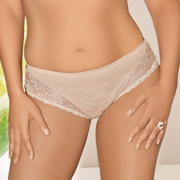 Fanchone - Light Beige Lace Bikini Panties