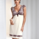 Ivone - Ivory and Beige Nightgown