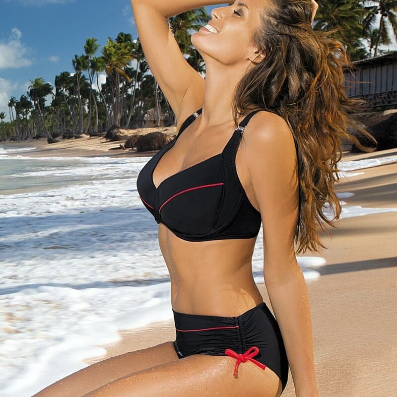 2ff1b97c639a1 Elegant   Sporty Two Piece Bikini for Larger Busted Women