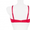 PAMELA Raspberry Red Sheer Balconette Bra