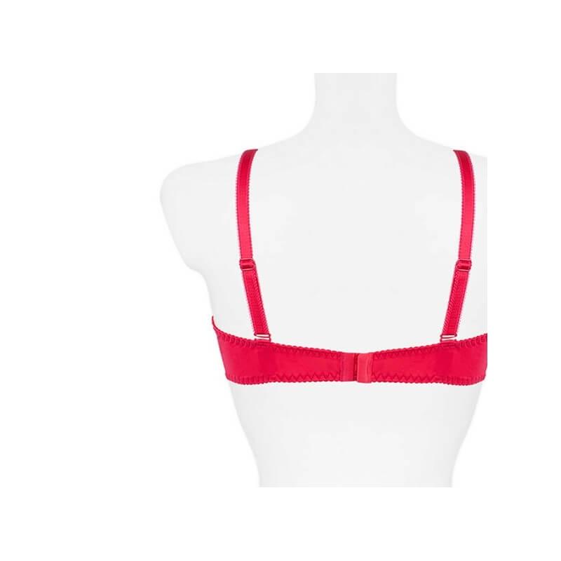 222e0ff275 PAMELA - Raspberry Red Sheer Balconette Bra