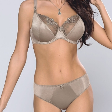 Olivia - Golden Olive Unlined Sheer Lace Bra