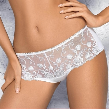 PAMELA White Sheer Boyshort Panties